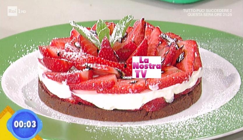 foto cheesecake alle fragole