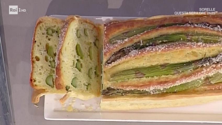 foto torta picnic con asparagi