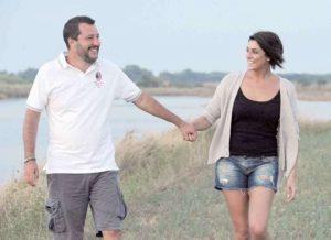 Foto Matteo Salvini ed Elisa Isoardi