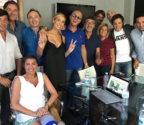 Foto Alfonso Signorini e Ilary Blasi al Gf vip