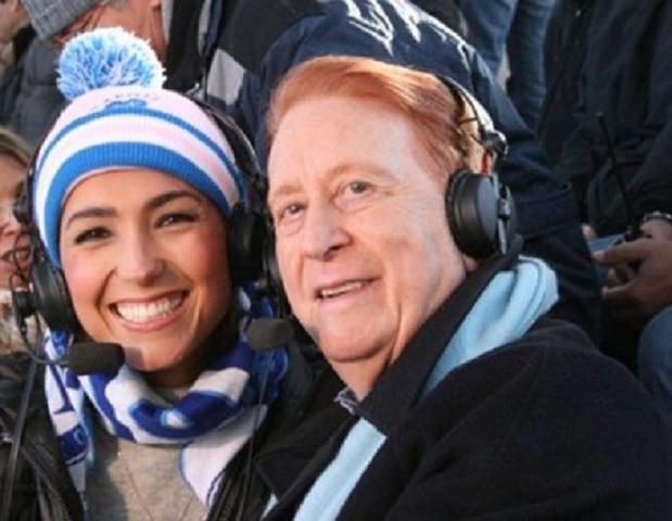 Foto Caterina Balivo e Aldo Biscardi stadio