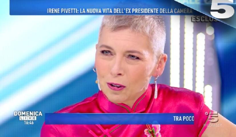 Foto Irene Pivetti a Domenica Live