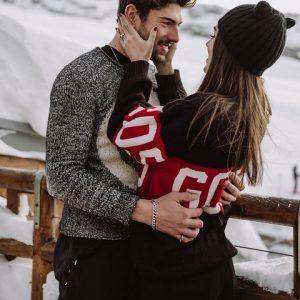 foto Cecilia e Ignazio sulla neve