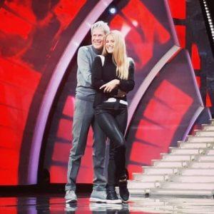 foto Michelle Hunziker e Claudio Baglioni a Sanremo