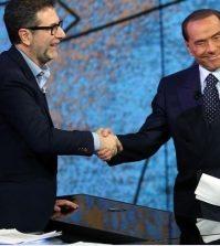 Foto Fabio Fazio e Berlusconi Che tempo che fa