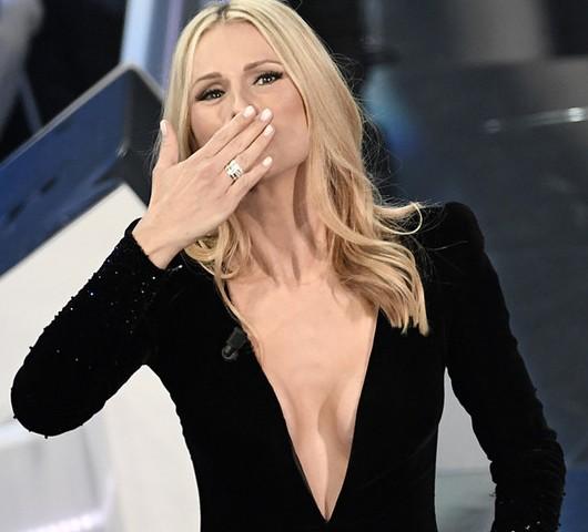 Foto Michelle Hunziker Sanremo 2018