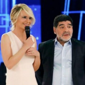 foto Maradona ad amici maria De Filippi