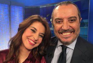 Foto Franco Di Mare e Benedetta Rinaldi