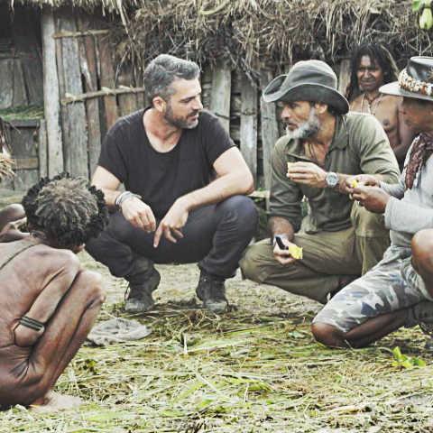 foto raz degan raz & The tribe Luca argentero
