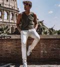 foto Andrea Damante a Roma