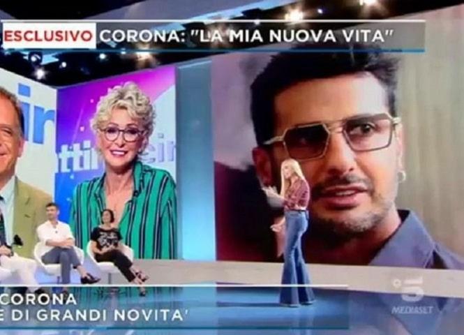 foto Fabrizio Corona Mattino 5