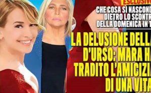 foto copertina nuovo tv, mara ha tradito barbara