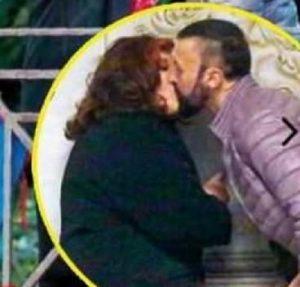 foto bacio patrizia de blanck e il marchese d'aragona