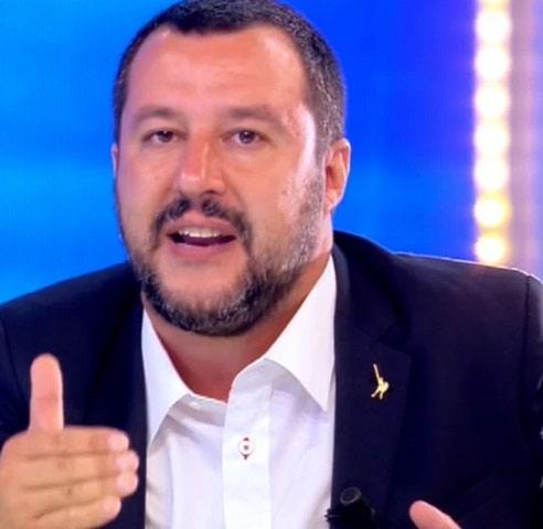 foto Salvini pomeriggio 5