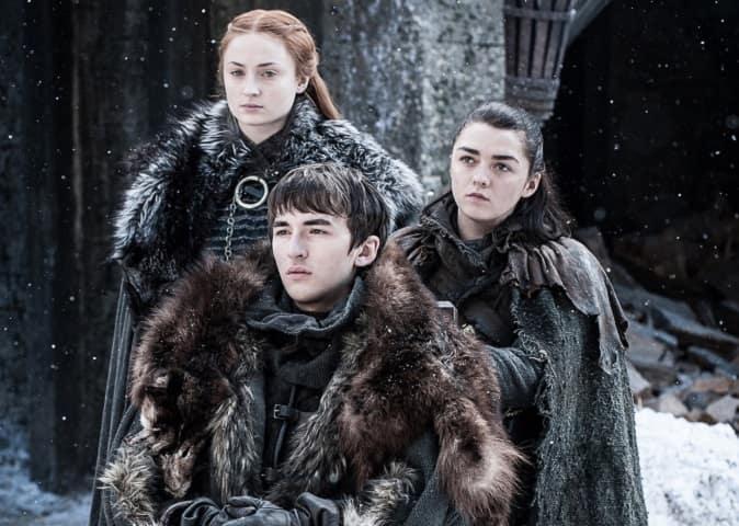 Foto Sansa, Bran e Arya
