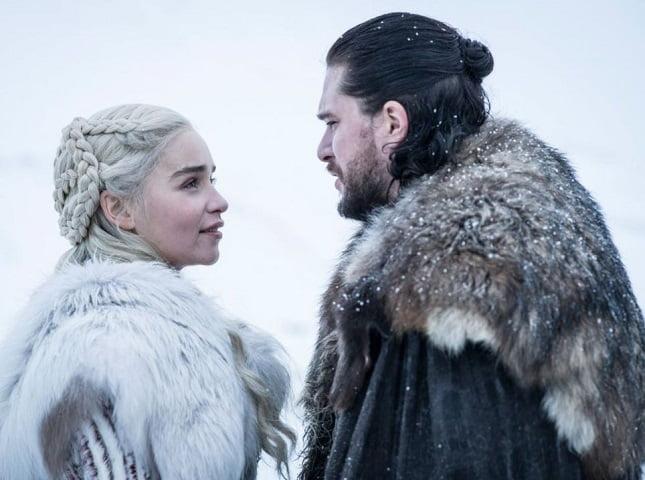 Foto Daenery Targaryen e John Snow