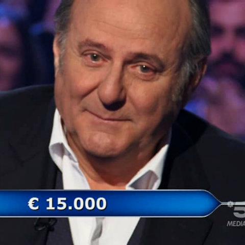 foto gerry scotti piange chi vuol essere milionario