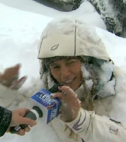 foto inviata vita in diretta neve