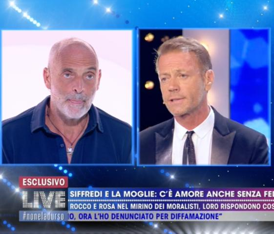 Foto Rocco Siffredi Paolo Brosio Live