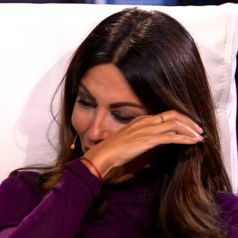 foto tu si Que Vales Sabrina Ferilli piange