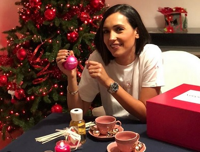 foto Caterina Balivo a Natale