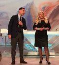 foto Tiberio Timperi e Monica Setta, 23 dicembre