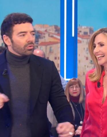 foto Alberto Matano e Lorella Cuccarini 14 gennaio
