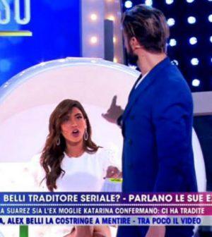 foto Alex Belli scontro Mila Suarez live non è la d'urso
