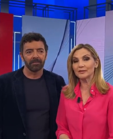 foto Alberto Matano e Lorella Cuccarini 28 febbraio