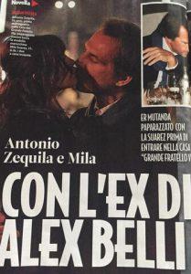 foto antonio zequila bacia mila suarez