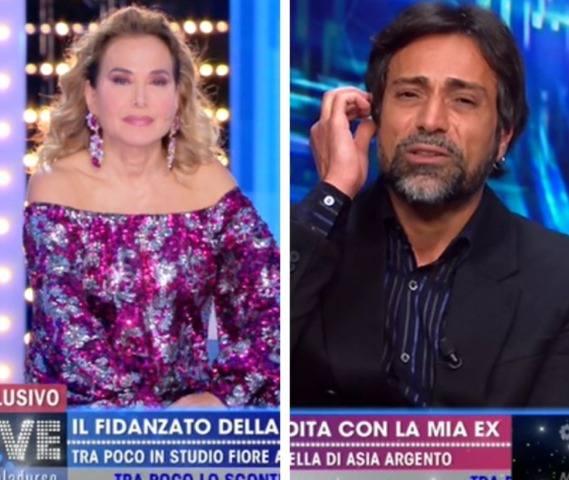 Foto Barbara d'Urso Pietro Delle Piane Live