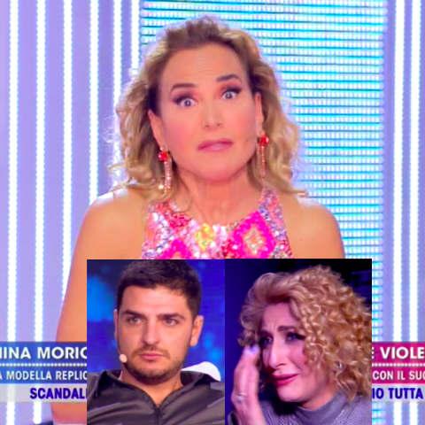 foot Barbara D'Urso furiosa Luigi Favoloso live non è la d'urso