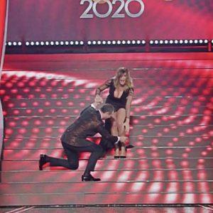 foto Sabrina Salerno caduta sanremo 2020