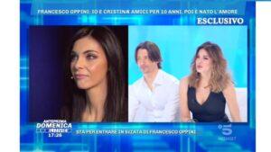 foto Alba Parietti Francesco Cristina a Domenica Live