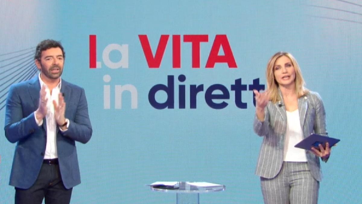 foto Alberto Matano e Lorella Cuccarini 23 marzo