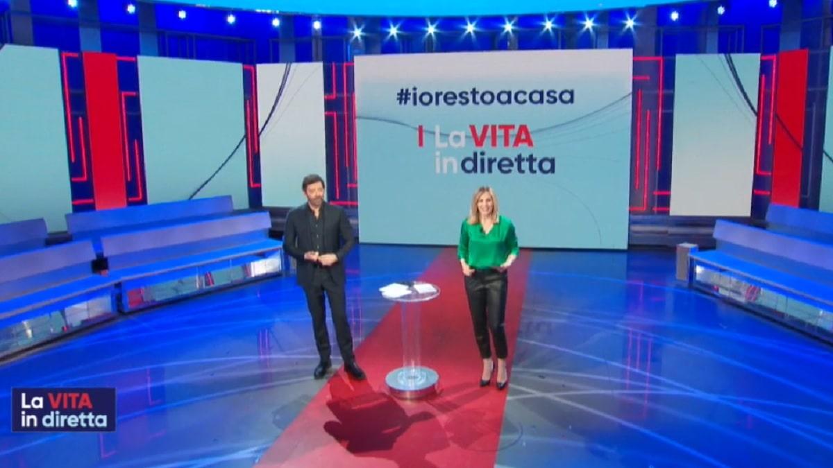 foto Alberto Matano e Lorella Cuccarini, 30 marzo