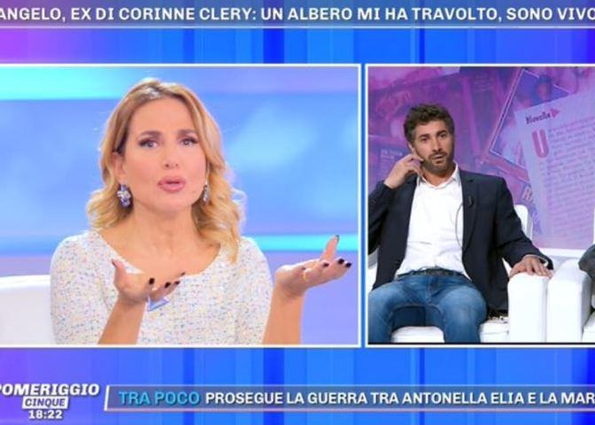 Foto Angelo Costabile ferito Barbara d'Urso