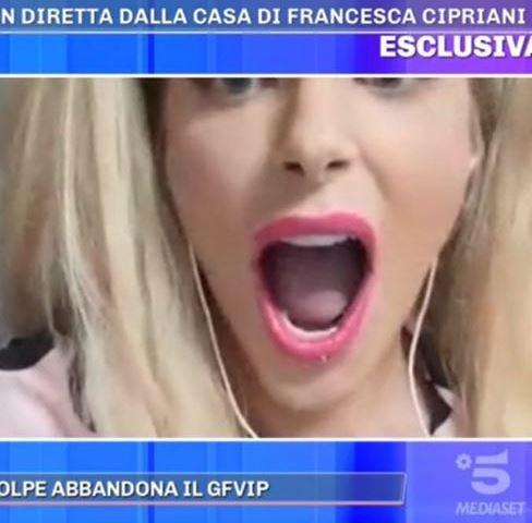 Foto Francesca Cipriani arrabbiata Pomeriggio 5