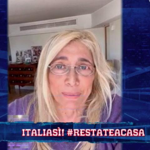 foto Mara Venier piange coronavirus Italia Sì