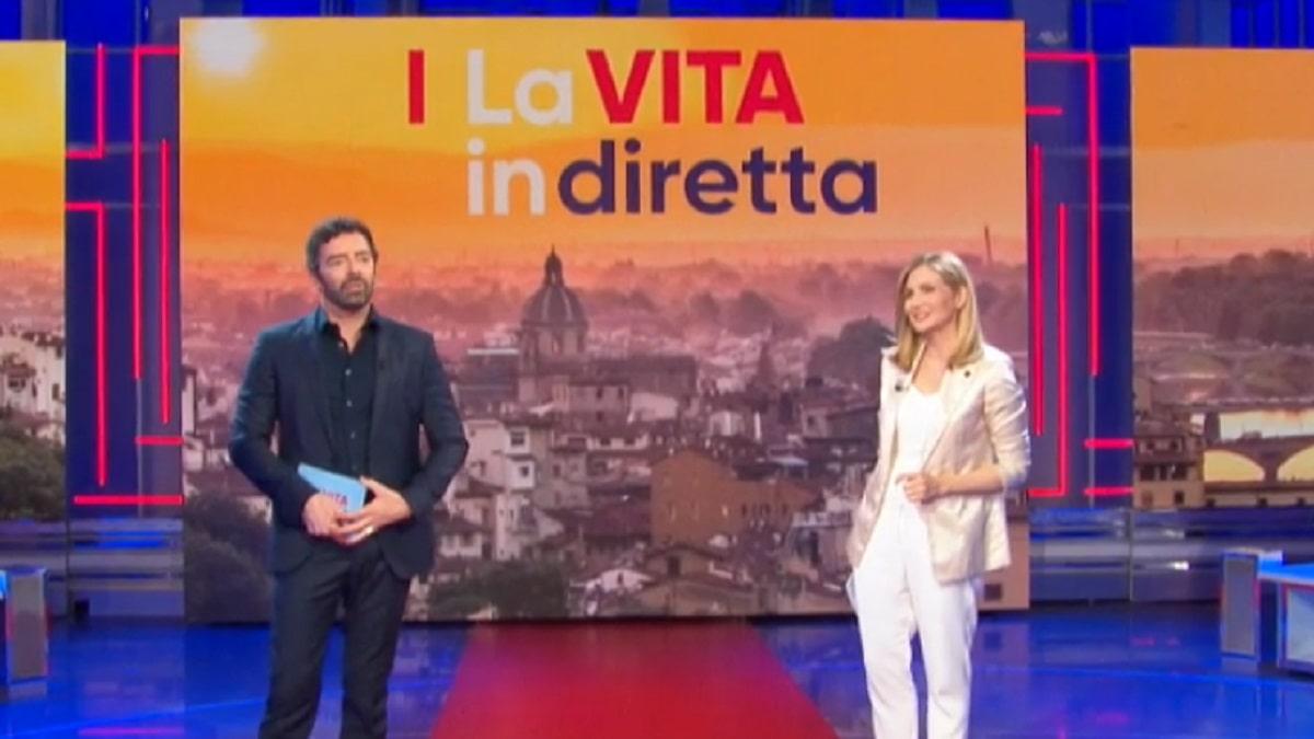 foto Alberto Matano e Lorella Cuccarini, 28 aprile
