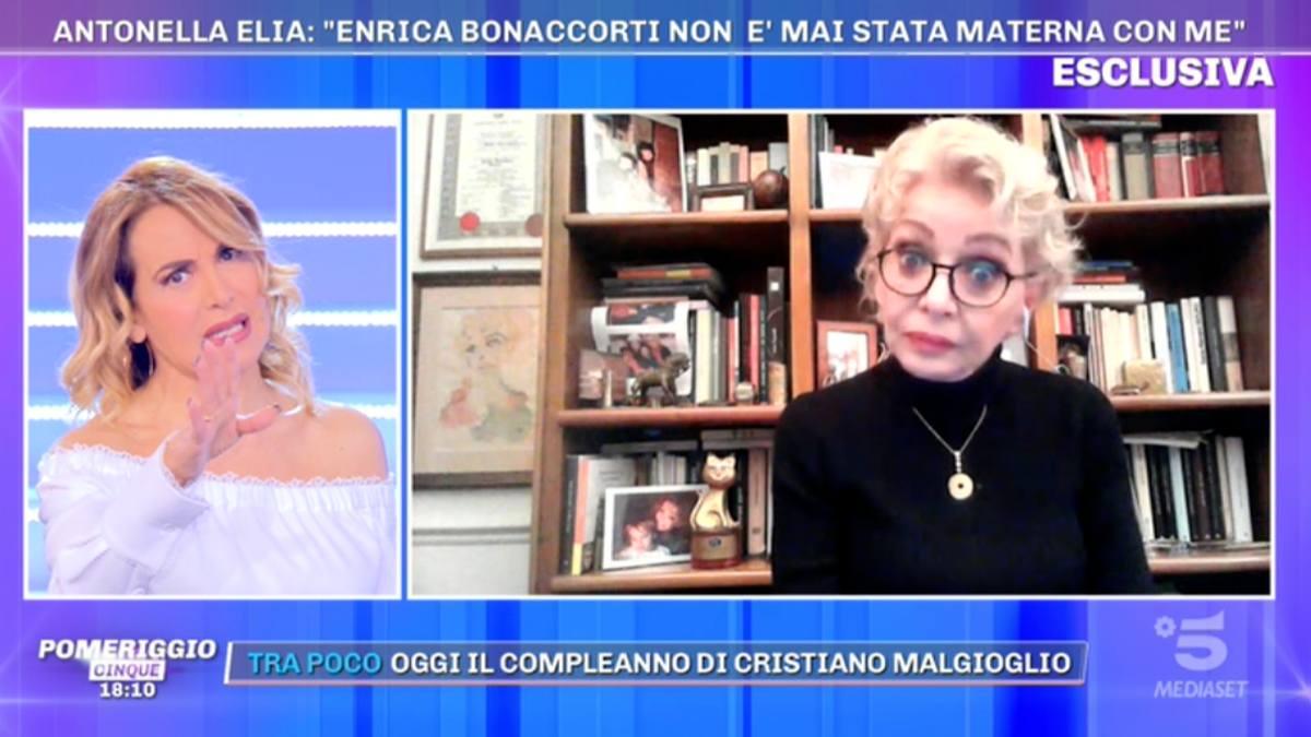 Foto Enrica Bonaccorti Antonella Elia Pomeriggio 5