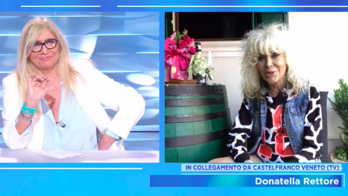 foto Donatella Rettore domenica in Mara Venier