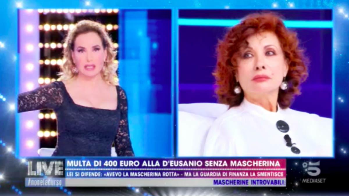 Alda D'Eusanio multata al bar: