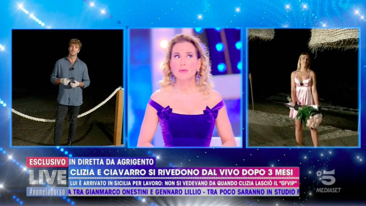 Barbara D'Urso smaschera Clizia Incorvaia e Ciavarro: