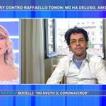 """Raffaello Tonon su Corinne Clery a Pomeriggio 5: """"Amicizia sfilacciata"""""""