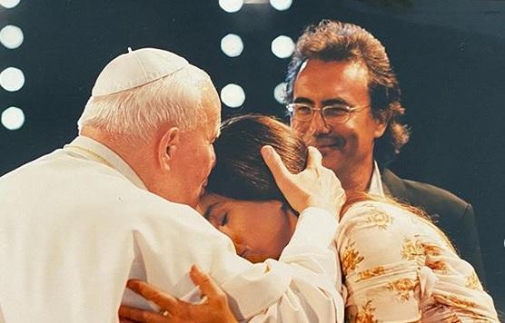 foto Romina Al Bano, Papa