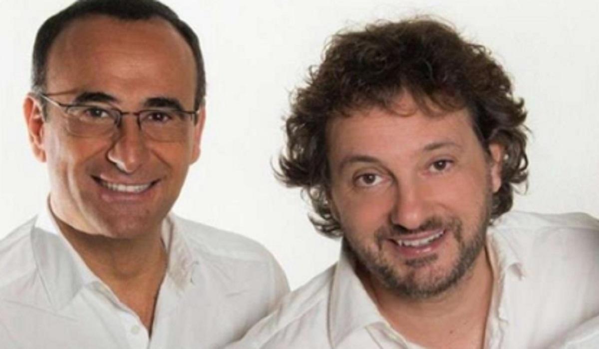 Foto Carlo Conti e Leonardo Pieraccioni