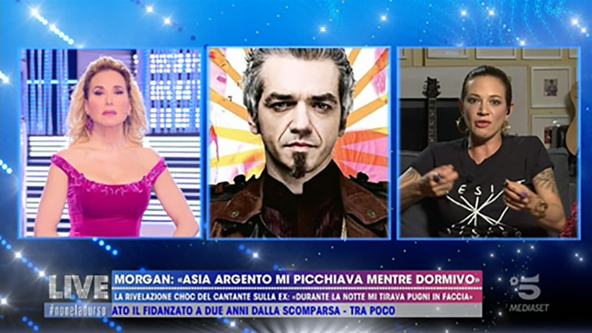 Asia Argento attacca Morgan a Live: