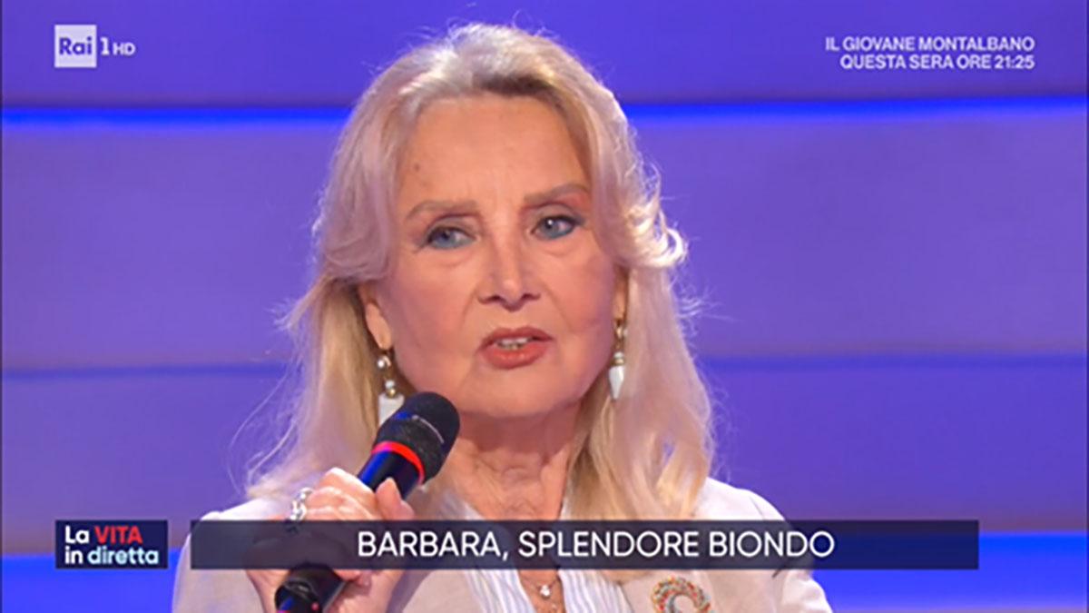 foro Barbara Bouchet a La vita in diretta