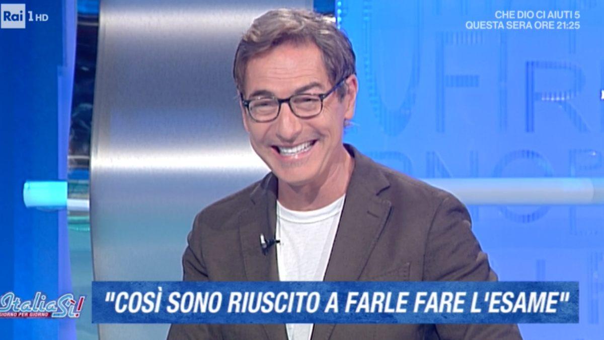 Foto Marco Liorni rivelazione choc Italia Sì